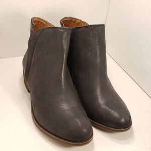 Lucky Brand Black Leather Ankle Booties
